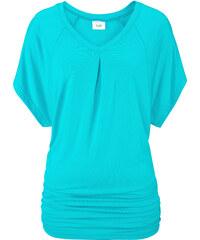 bpc bonprix collection Wellness T-Shirt mit Fledermausärmeln kurzer Arm in blau für Damen von bonprix