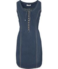 John Baner JEANSWEAR Jeanskleid in A-Form ohne Ärmel in blau von bonprix