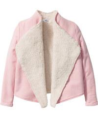 bpc bonprix collection Cardigan mit Teddyfutter, Gr. 116/122-164/170 langarm in rosa für Mädchen von bonprix