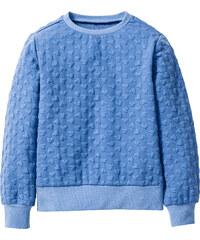 bpc bonprix collection Sweatshirt mit Herzchenmuster, Gr. 116/122-164/170 langarm in blau für Mädchen von bonprix