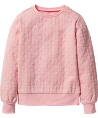 bpc bonprix collection Sweatshirt mit Herzchenmuster, Gr. 116/122-164/170 langarm in rosa für Mädchen von bonprix