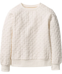 bpc bonprix collection Sweatshirt mit Herzchenmuster, Gr. 116/122-164/170 langarm in weiß für Mädchen von bonprix