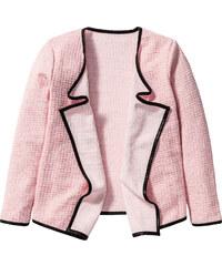 bpc bonprix collection Drapierter Cardigan, Gr. 116/122-164/170 langarm in rosa für Mädchen von bonprix