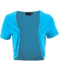 bpc bonprix collection Basic Shirt Viskose Stretch-Jersey kurzer Arm in blau für Damen von bonprix