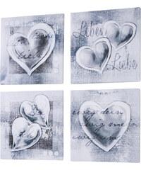 bpc living Bilder-Set Love (4-tlg.) in grau von bonprix