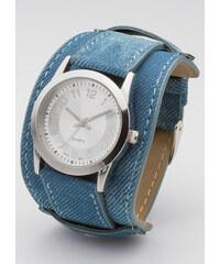 bpc bonprix collection Armbanduhr mit breitem Armband in blau für Damen von bonprix
