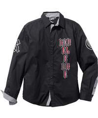 RAINBOW Langarmhemd Slim Fit in schwarz von bonprix