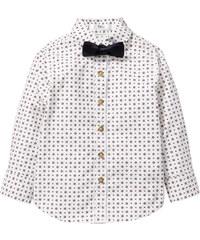 bpc bonprix collection Hemd bedruckt mit Fliege, Gr. 80/86-128/134 langarm in weiß von bonprix