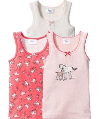bpc bonprix collection Unterhemd (3er-Pack), Gr. 92/98-152/158 in pink für Mädchen von bonprix