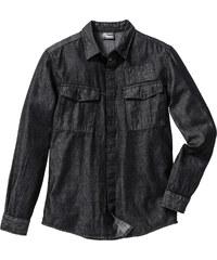 RAINBOW Jeans-Langarmhemd Slim Fit in grau von bonprix