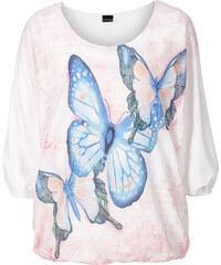 BODYFLIRT Shirtbluse 3/4 Arm in weiß für Damen von bonprix