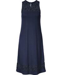 BODYFLIRT Kleid mit Spitze ohne Ärmel in blau von bonprix
