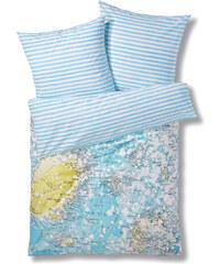 Home Collection Bettwäsche North Pole in blau von bonprix