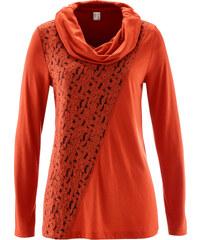 bpc selection Langarmshirt mit Spitze in orange für Damen von bonprix