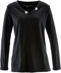 bpc selection Fleece Pullover in schwarz für Damen von bonprix