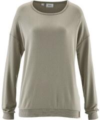bpc bonprix collection Sweatshirt langarm in grau (Rundhals) für Damen von bonprix