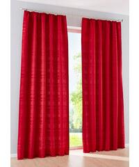 bpc living Vorhang Stripes (1er-Pack), Kräuselband in rot von bonprix