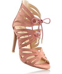 BODYFLIRT Sandalette mit 11 cm High-Heel in rot von bonprix