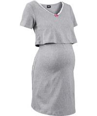 bpc bonprix collection Still-Nachthemd kurzer Arm in grau für Damen von bonprix