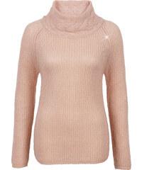 BODYFLIRT Rollkragenpullover 3/4 Arm in rosa für Damen von bonprix