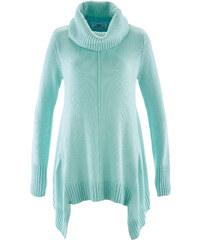 bpc bonprix collection Rollkragen-Zipfel-Pullover langarm in grün für Damen von bonprix