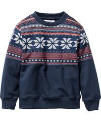 bpc bonprix collection Sweatshirt bedruckt, Gr. 80/86-128/134 langarm in blau für Jungen von bonprix