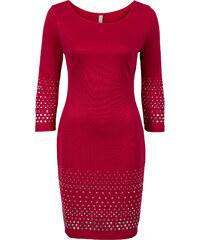 BODYFLIRT boutique Kleid mit Nieten in rot von bonprix