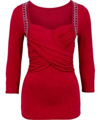 BODYFLIRT boutique Langarmshirt in rot für Damen von bonprix