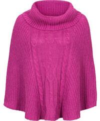 RAINBOW Strick-Poncho in pink für Damen von bonprix