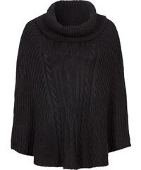 RAINBOW Strick-Poncho in schwarz für Damen von bonprix
