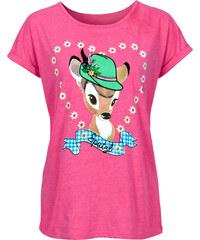 Disney Shirt Oktoberfest kurzer Arm in rosa für Damen von bonprix