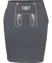 RAINBOW Sweatrock mit Stickerei in grau für Damen von bonprix
