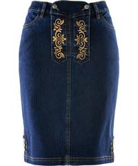 bpc bonprix collection Trachtenrock aus Jeans, kniefrei in schwarz für Damen von bonprix