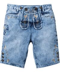RAINBOW Trachten-Jeans-Bermuda Regular Fit in blau für Herren von bonprix