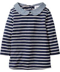 bpc bonprix collection Baby Langarm Kleid Bio-Baumwolle in blau von bonprix
