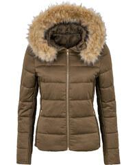 BODYFLIRT Stepp-Jacke mit Kapuze langarm in grün für Damen von bonprix