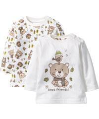 bpc bonprix collection Baby Langarmshirt (2er-Pack) Bio-Baumwolle in weiß von bonprix