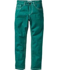 John Baner JEANSWEAR Slim Fit Hose mit tollen Knittereffekten, Normal in grün für Jungen von bonprix