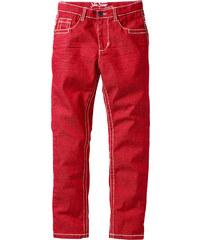 John Baner JEANSWEAR Slim Fit Hose mit tollen Knittereffekten, XXL in rot für Jungen von bonprix