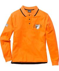 bpc selection Langarmpoloshirt Regular Fit in orange für Herren von bonprix