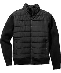 bpc selection Outdoor-Strickblouson Regular Fit langarm in schwarz für Herren von bonprix
