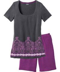 bpc selection Shorty mit langer Shorts kurzer Arm in lila für Damen von bonprix
