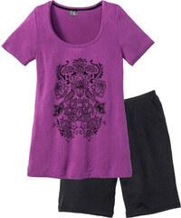 bpc selection Shorty mit langer Shorts kurzer Arm in schwarz für Damen von bonprix