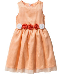 bpc bonprix collection Kleid mit Blumenapplikation ohne Ärmel in orange von bonprix