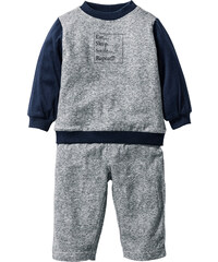bpc bonprix collection Baby Sweatshirt + Sweathose (2-tlg. Set) Bio-Baumwolle in schwarz für Herren von bonprix