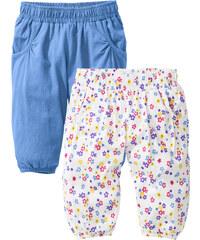 bpc bonprix collection Baby Pumphose (2er-Pack) Bio-Baumwolle, Gr. 56/62-104/110 in blau für Damen von bonprix