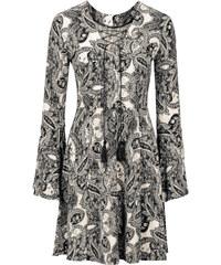 BODYFLIRT Kleid mit Trompetenärmeln langarm in schwarz von bonprix