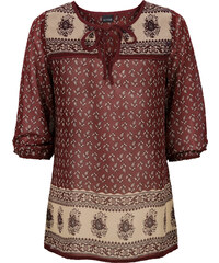 BODYFLIRT Bedruckte Bluse in rot von bonprix