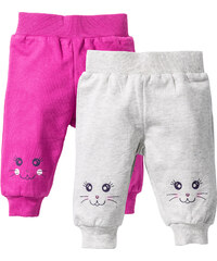 bpc bonprix collection Baby-Sweathose (2er-Pack) Bio-Baumwolle in weiß für Damen von bonprix