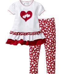 bpc bonprix collection Baby T-Shirt + Leggings (2-tlg.) Bio-Baumwolle kurzer Arm in weiß für Damen von bonprix